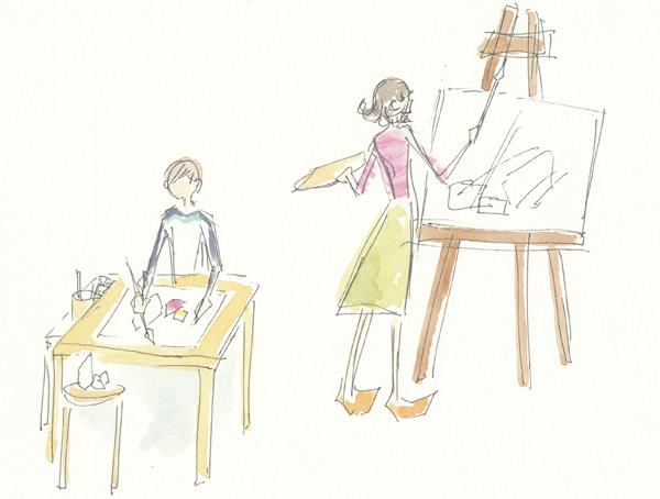 絵画教室,東京都世田谷区,おとな,大人